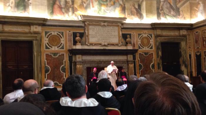 El Papa Francisco recibe a los Dominicos
