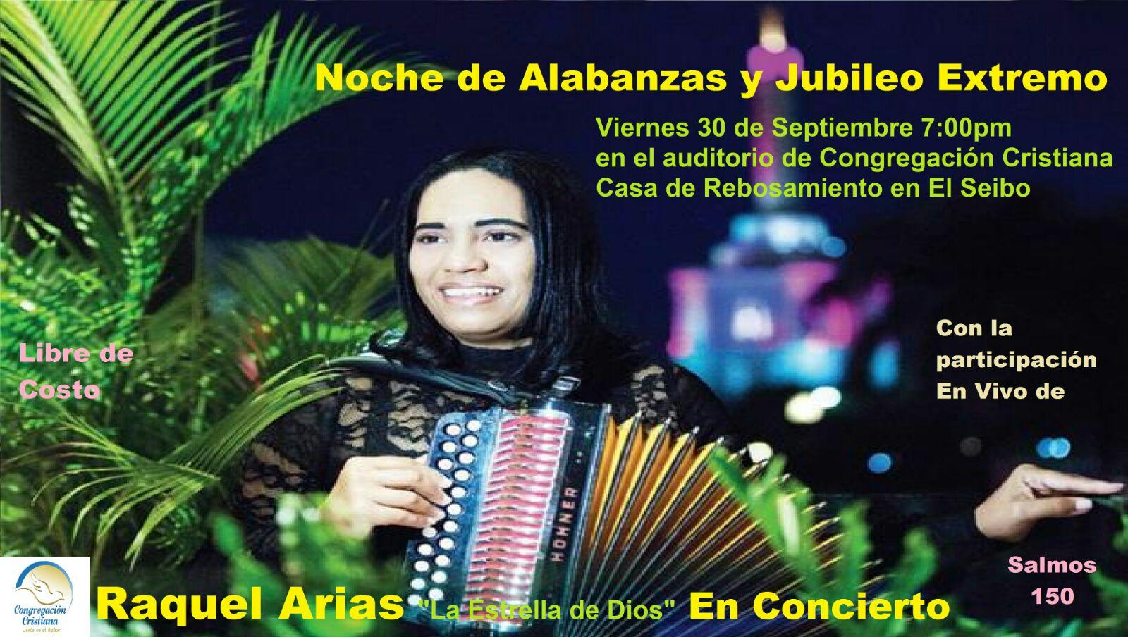 La merenguera Raquel Arias vendrá al  Seibo.