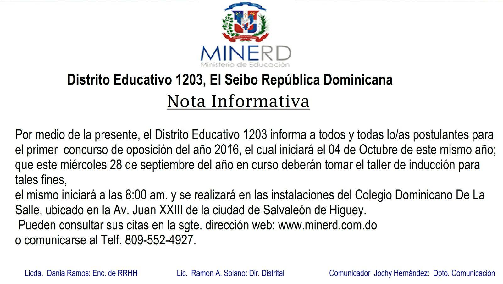 El Ministerio de Educación inicia proceso de inducción de oposición docente.