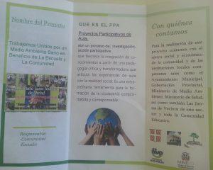 Escuela lanza proyecto a favor del Medio Ambiente.