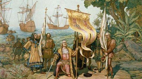 Cristóbal Colón llegó a la isla por parte norte , el 5 de diciembre de 1492.