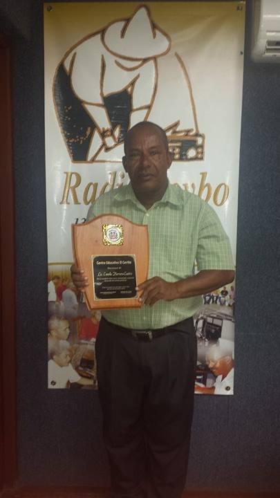 Radio Seibo felicita a Camilo Herrera por  reconocimiento.