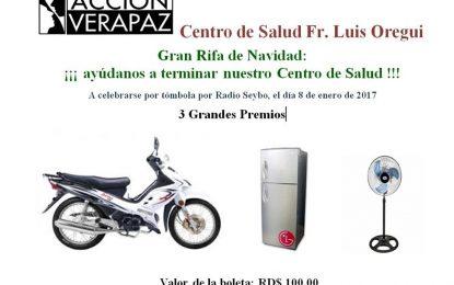 Ganadores de la Gran Rifa  a favor de la construcción del Centro de Salud Fr. Luis Oregui