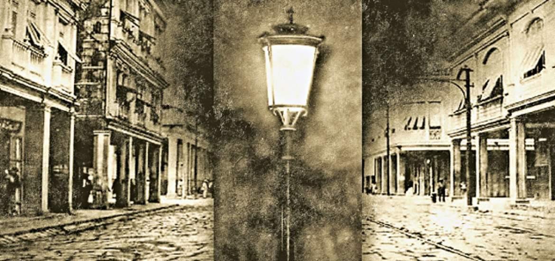 5 de enero de 1895, Se inaugura en la capital de la República el servicio de alumbrado eléctrico.