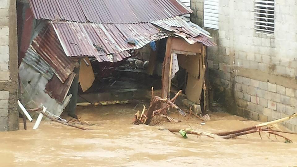 Miches y otras localidades resultan afectadas por las lluvias.