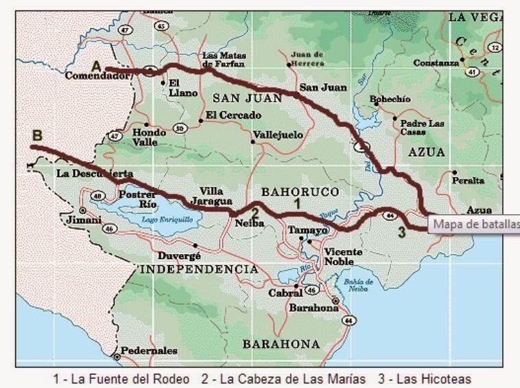 El 13 de marzo de 1844 se escenifico la Batalla de La Fuente de Rodeo, también conocida como «Bautismo de sangre».
