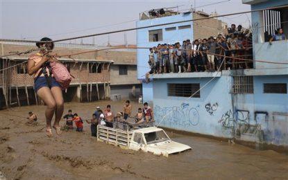 Las lluvias torrenciales en Perú dejan al menos 72 muertos y más de 60.000 damnificados