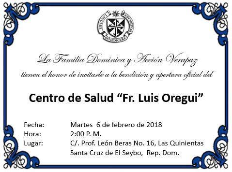 Se acerca la gran bendición y apertura oficial del nuevo centro de salud Fray Luis Oregui.