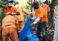 Instituciones llevan a cabo jornada para recoger desechos sólidos